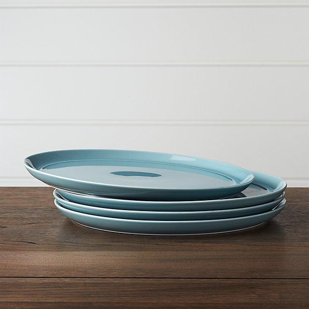 Set of 4 Hue Blue Dinner Plates - Image 1 of 3
