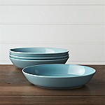 Set of 4 Hue Blue Low Bowls