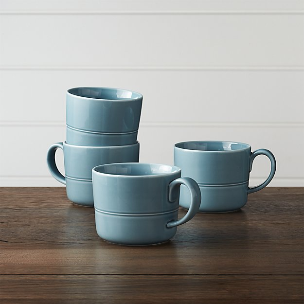 Hue Blue Mugs,Set of 4