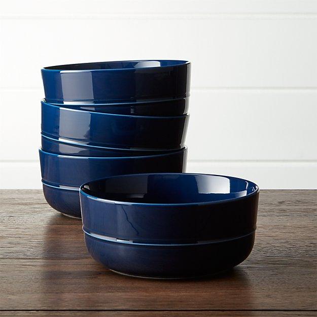 Hue Navy Blue Bowls Set of Four