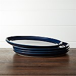 Hue Navy Blue Dinner Plates Set of Four