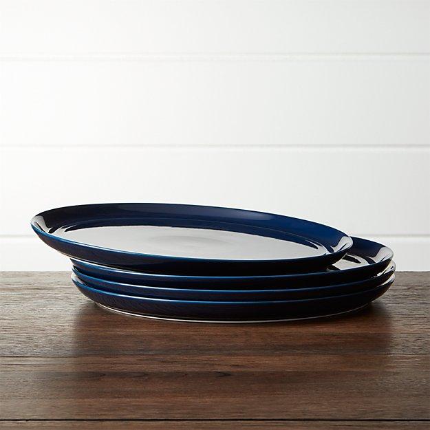 Hue Navy Blue Dinner Plates Set of Four - Image 1 of 4