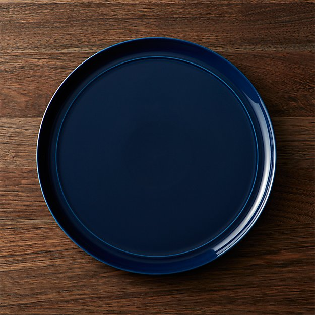 Hue Navy Blue Dinner Plate + Reviews | Crate and Barrel