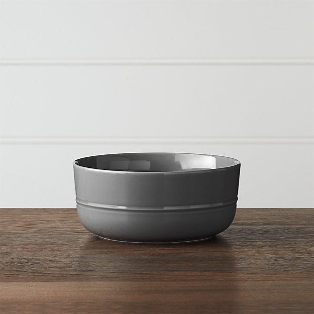 Hue Dark Grey Bowl - Image 1 of 6