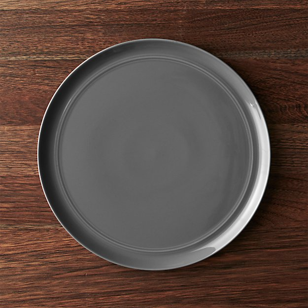 Hue Dark Grey Dinner Plate Crate And Barrel