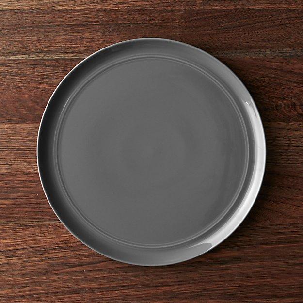 & Hue Dark Grey Dinnerware | Crate and Barrel