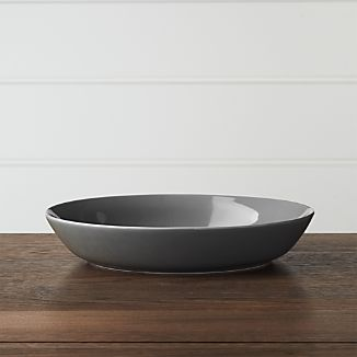 Hue Dark Grey Low Bowl