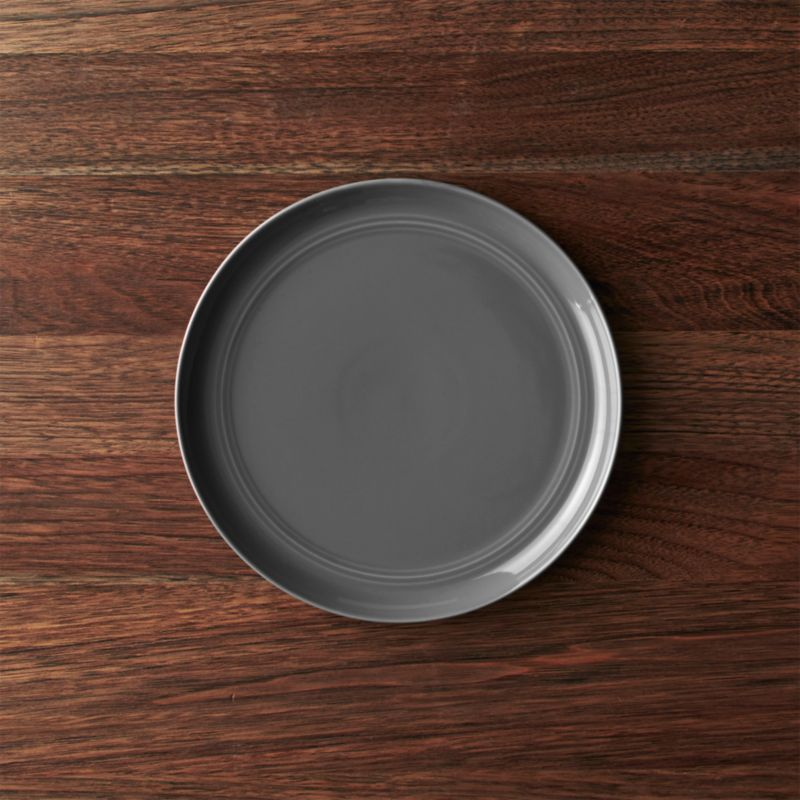 Hue Dark Grey Salad Plate Reviews Crate And Barrel