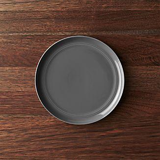 Hue Dark Grey Salad Plate