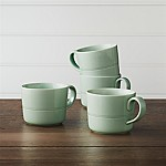 Hue Green Mugs, Set of 4