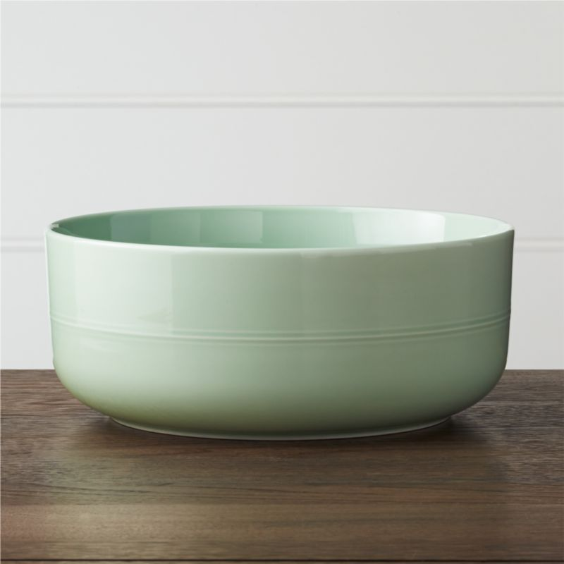 Hue Green Serving Bowl by Crate&Barrel