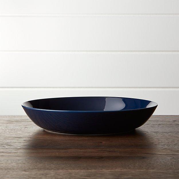 Hue Navy Blue Low Bowl - Image 1 of 5
