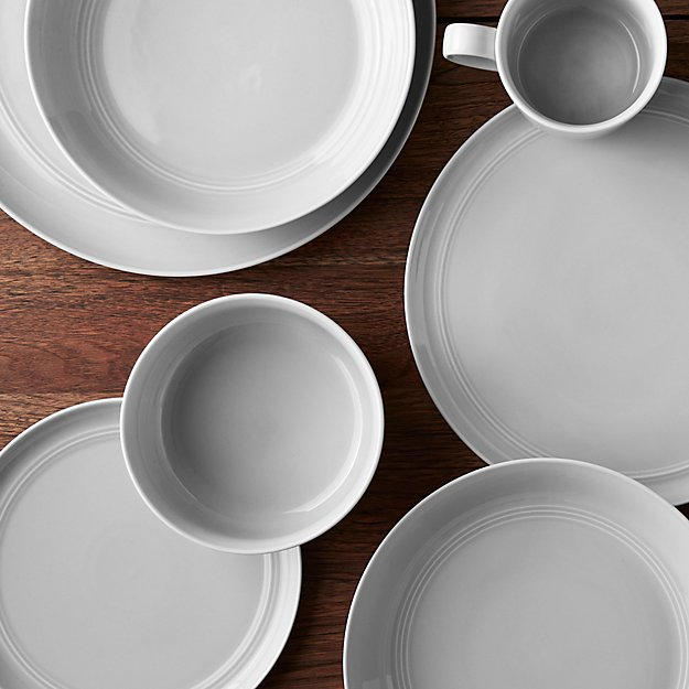 Hue Light Grey Dinnerware | Crate and Barrel