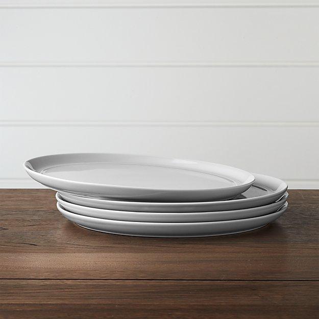Set of 4 Hue Light Grey Dinner Plates - Image 1 of 4