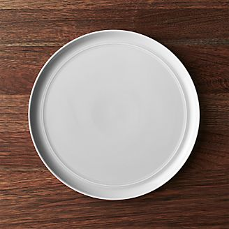 Hue Light Grey Dinner Plate & Dinner Plates: Square Oval Rectangular u0026 Round | Crate and Barrel