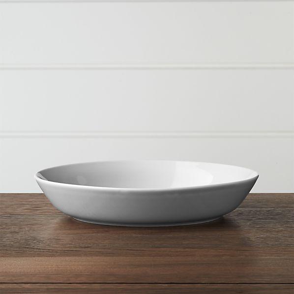 Hue Light Grey Low Bowl