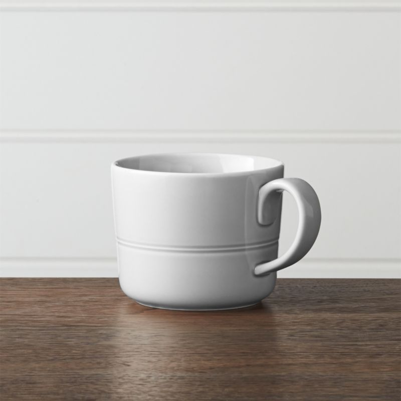 Hue Light Grey Mug Reviews Crate And Barrel