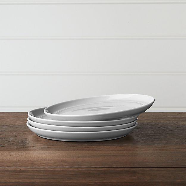 Set of 4 Hue Light Grey Salad Plates