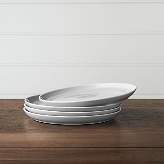 Set of 4 Hue Light Grey Salad Plates