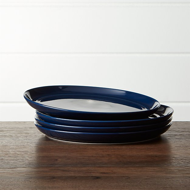 Hue Navy Blue Salad Plates Set of Four