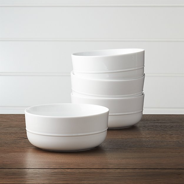 Set of 4 Hue White Bowls - Image 1 of 3