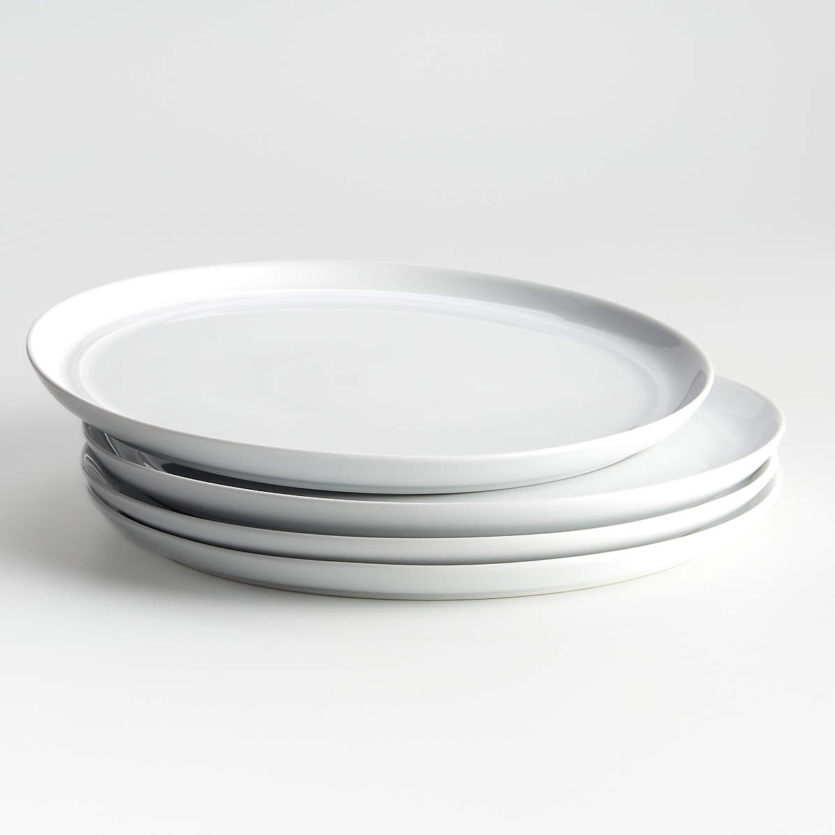 Hue White Dinner Plates Set Of Four Reviews Crate And Barrel