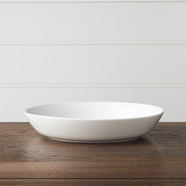 Hue White Low Bowl - Image 1 of 4