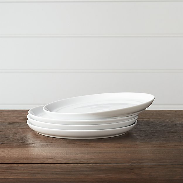 Set of 4 Hue White Salad Plates - Image 1 of 3