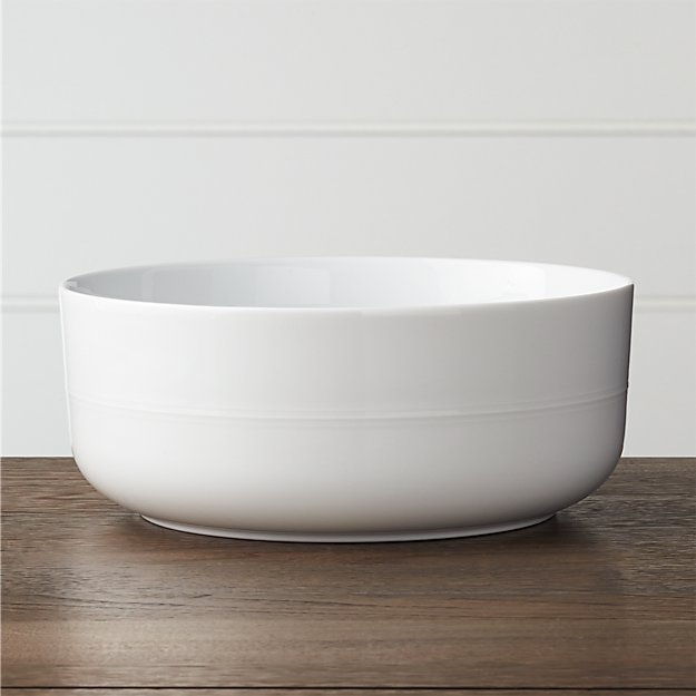 Hue White Serving Bowl Crate And Barrel