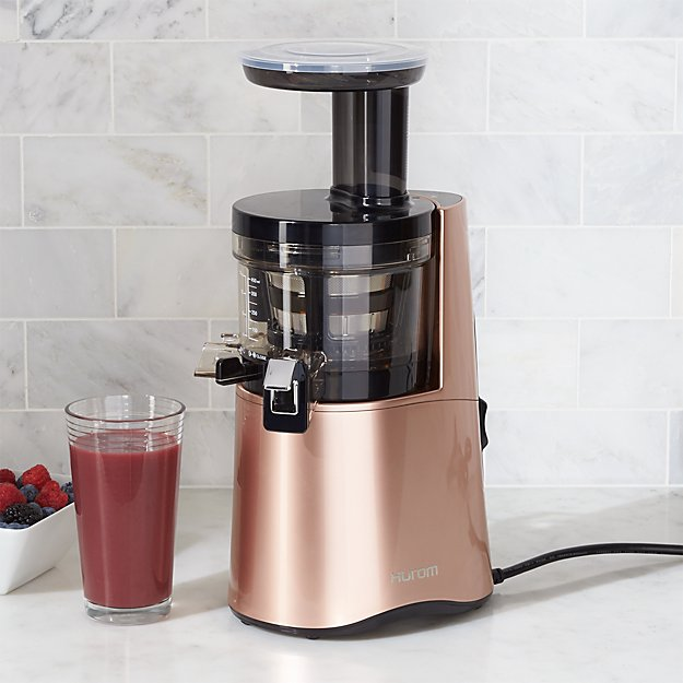 Slow Juicer Opskrifter Bog : Hurom H-AA Rose Gold Slow Juicer in Juicers + Reviews Crate and Barrel