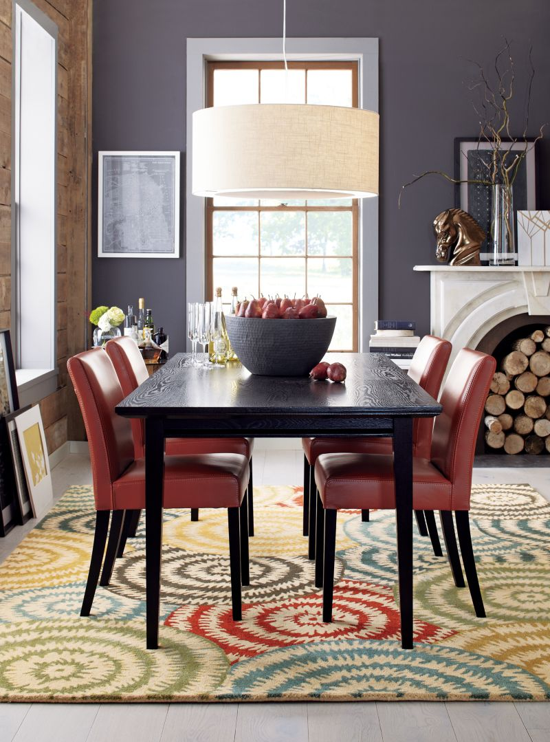 lowe red leather dining chair - Leather Dining Room Chairs