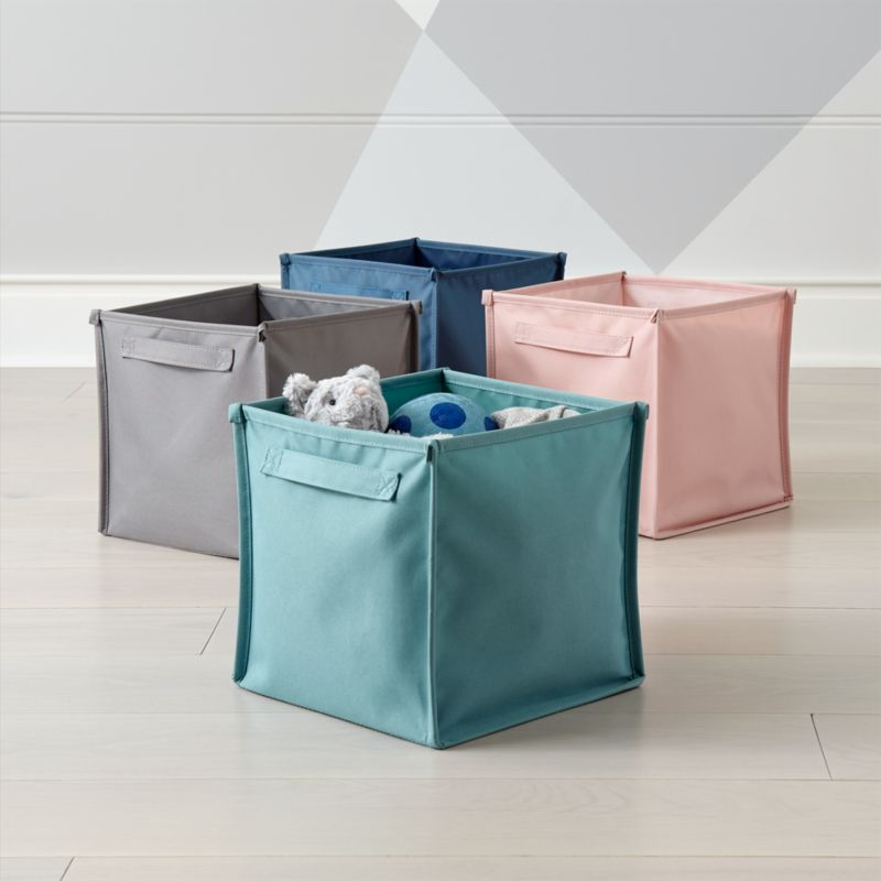 Kids Canvas Cube Storage Bin Crate And Barrel