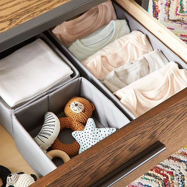 Canvas Grey Drawer Organizers - Image 1 of 8