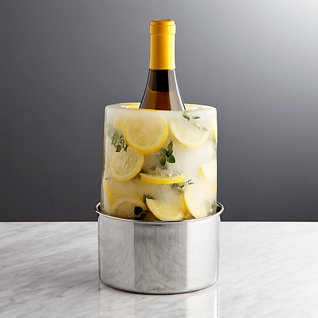 Ice Mold Wine Bottle Chiller Reviews Crate And Barrel