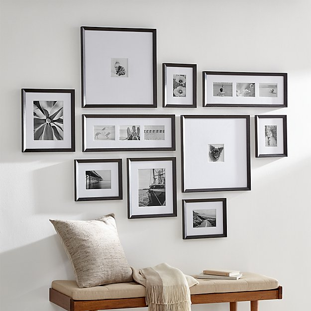 Icon Black Frame Gallery Set Of 10 Reviews Crate And Barrel