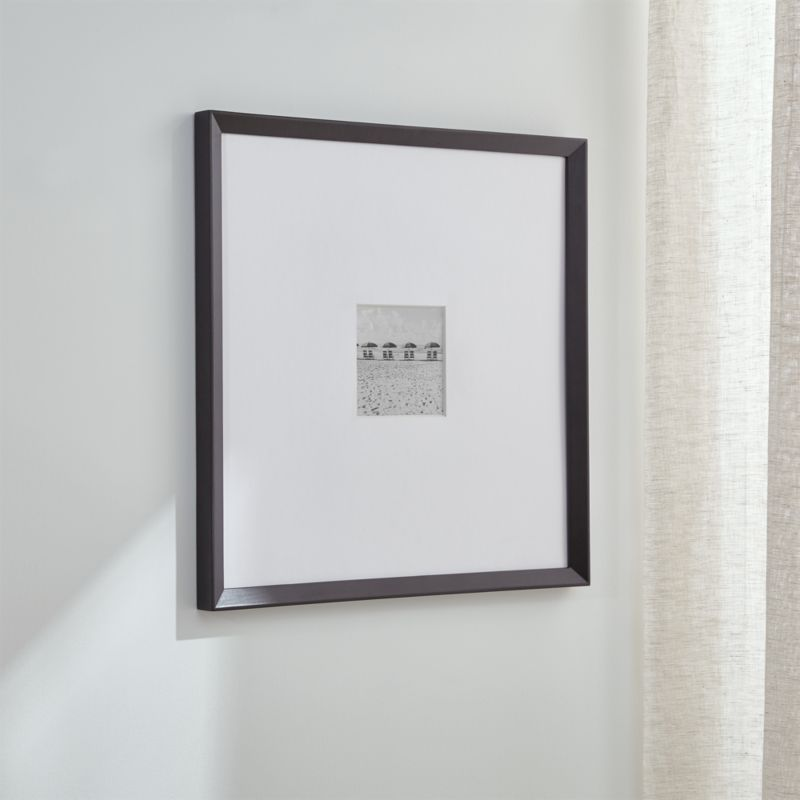 Shop Icon 5x5 Black Wall Frame + Reviews | Crate and Barrel from Crate and Barrel on Openhaus