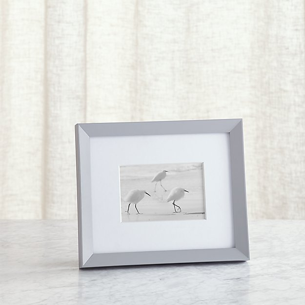 icon 4x6 grey picture frame reviews crate and barrel. Black Bedroom Furniture Sets. Home Design Ideas
