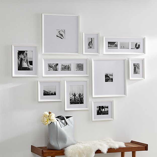 Icon White Frame Gallery, Set of 10 - Image 1 of 4