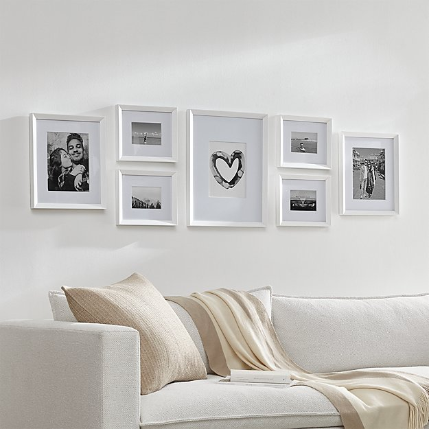 Icon White Frame Gallery, Set of 7 - Image 1 of 4