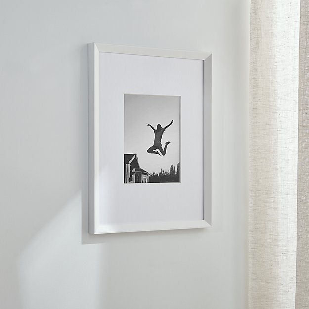 Icon 8x10 White Wall Frame Reviews Crate And Barrel