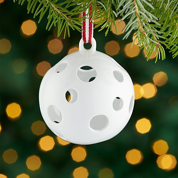 Igloo White Porcelain Ball Ornament