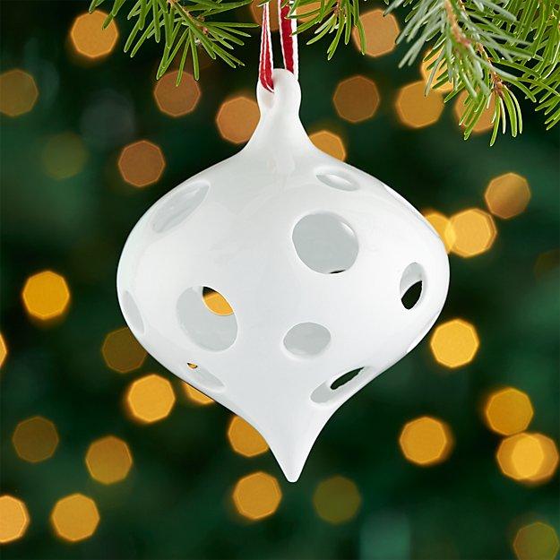 Igloo White Porcelain Onion Ornament