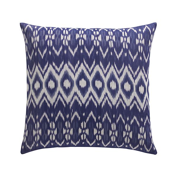 "Ikat 23"" Pillow with Feather-Down Insert"