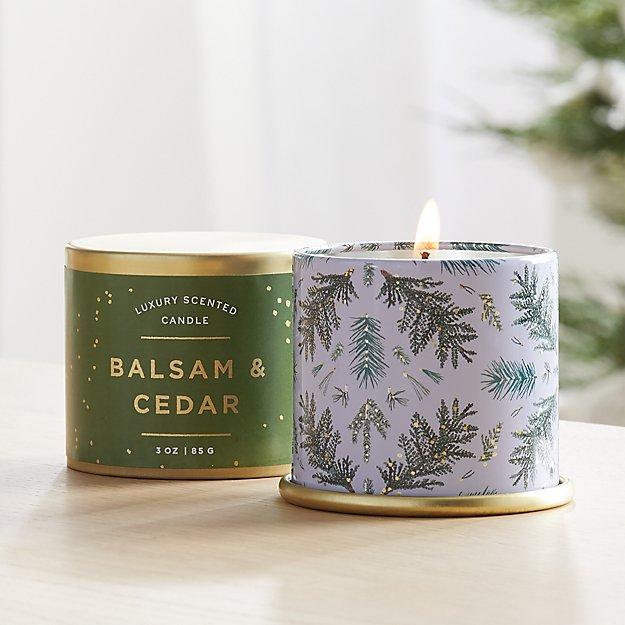 Illume Balsam and Cedar Demi Tin Candle - Image 1 of 4