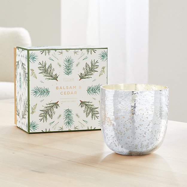 Illume Balsam and Cedar Luxe Sanded Mercury Glass Candle - Image 1 of 2