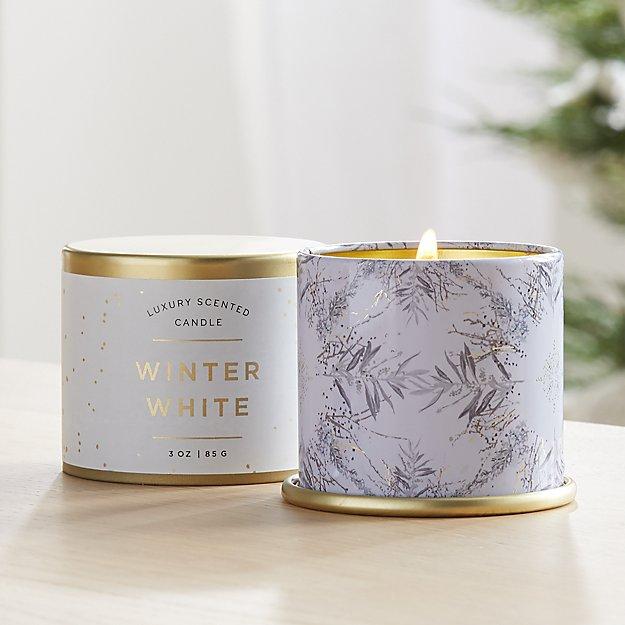 Illume Winter White Demi Tin Candle - Image 1 of 3