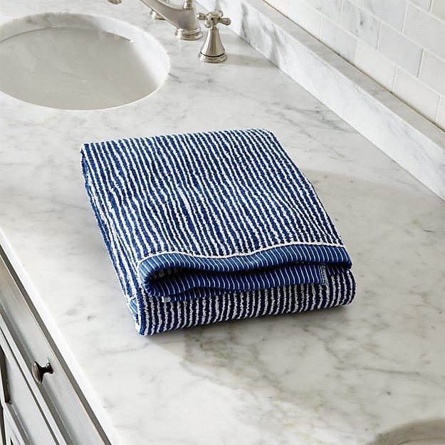 Marimekko Ilta Blue Bath Towel