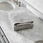Marimekko Ilta Grey Striped Bath Towel
