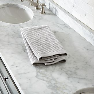 Marimekko Ilta Grey Striped Hand Towel