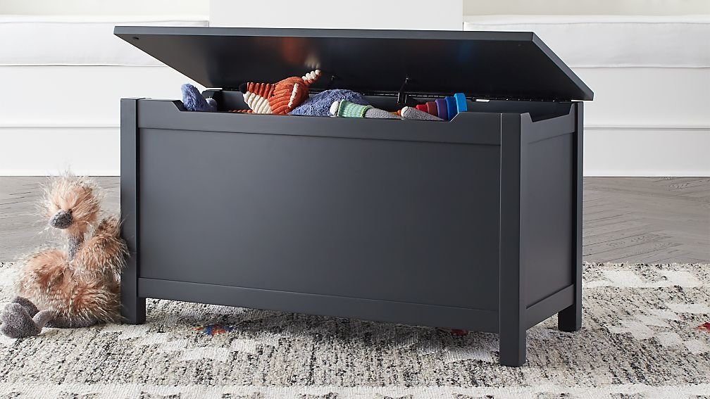 Pin By Interior Designer In A Box On Kids Teenager: I'm Just A Charcoal Wooden Toy Box + Reviews